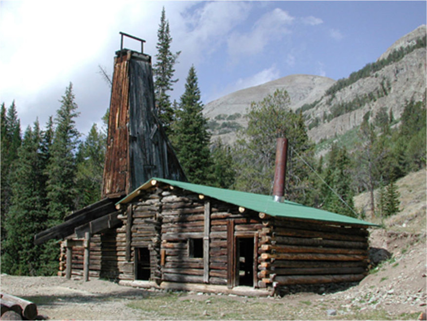 Picture Tumlin mine shaft, Kirwin, Park County, Wyoming