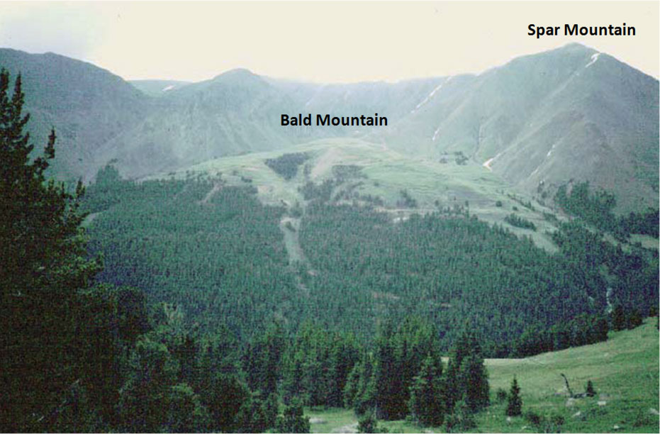 Picture proposed site of Bald Mountain open pit mine, Kirwin, Park County, Wyoming