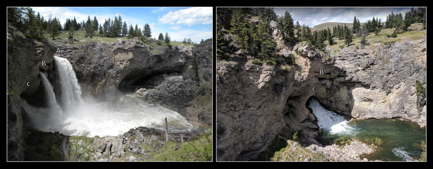 Pictures of Natural Bridge Falls on Boulder River, Montana