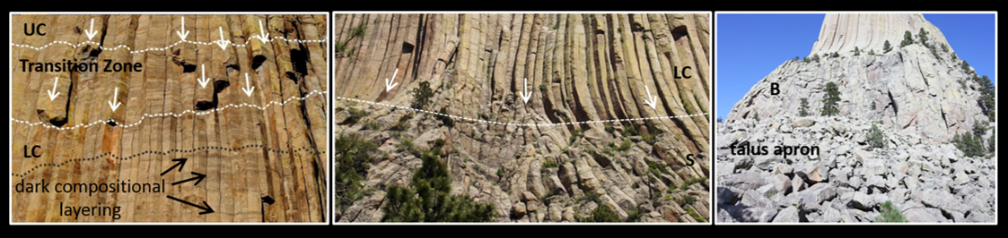 Pictures of Devils Tower columnar joints
