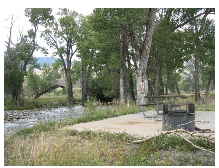 Picture of campground on South Fork of Owl Creek, Anchor Reservoir, Hot Springs County, Wyoming