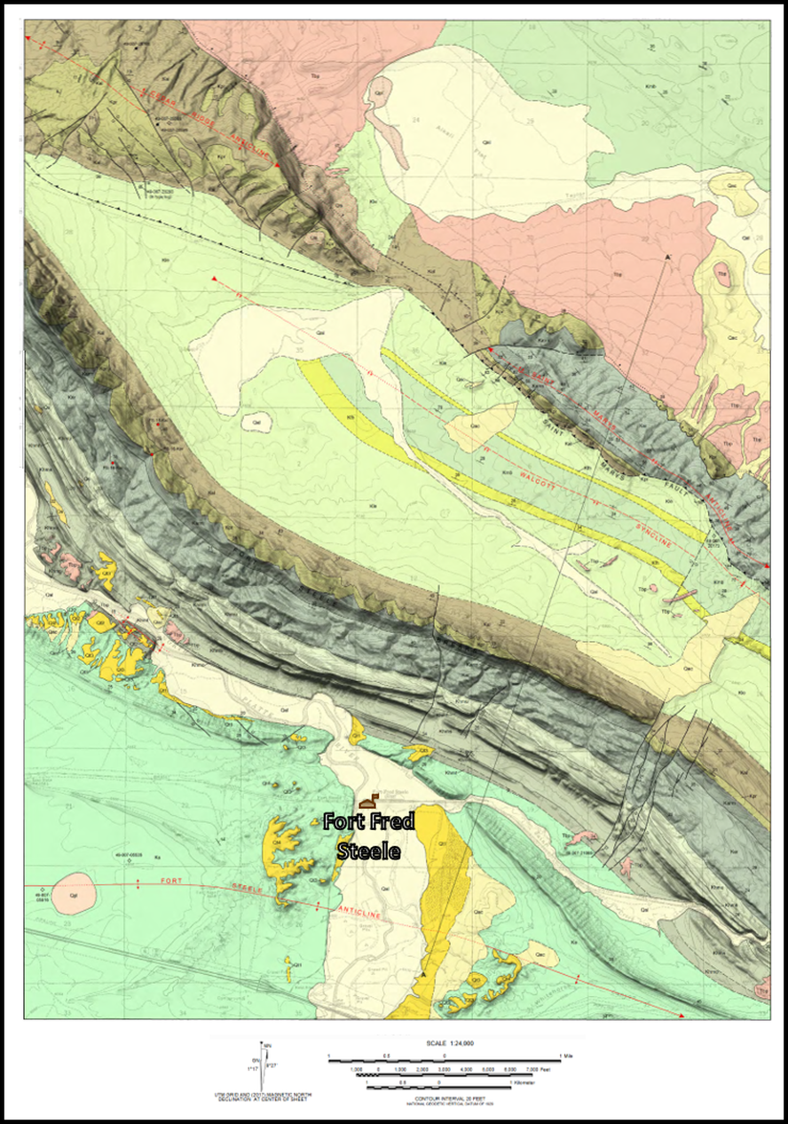 Geologic map of Fort Steele area, Carbon County, Wyoming