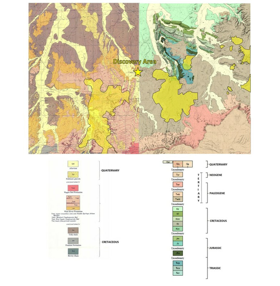 Geologic map of Gas Hills area, Wyoming
