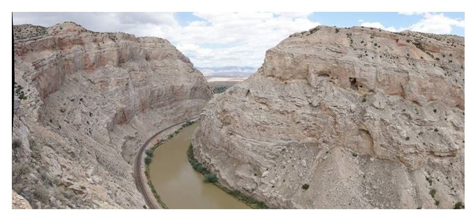 Picture Canyon at Sheep Mountain Anticline, Bighorn River, Wyoming
