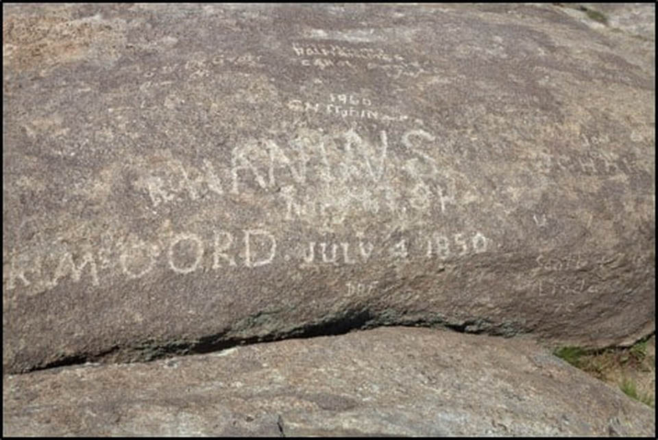 Inscriptions at Independence Rock, Natrona County, Wyoming