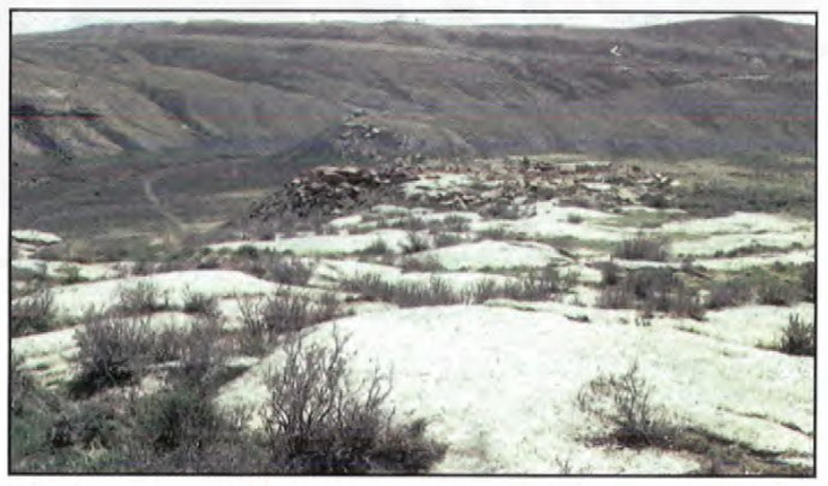 Picture of Rawlins Mesaverde Sandstone outcrop and quarry, Carbon County, Wyoming