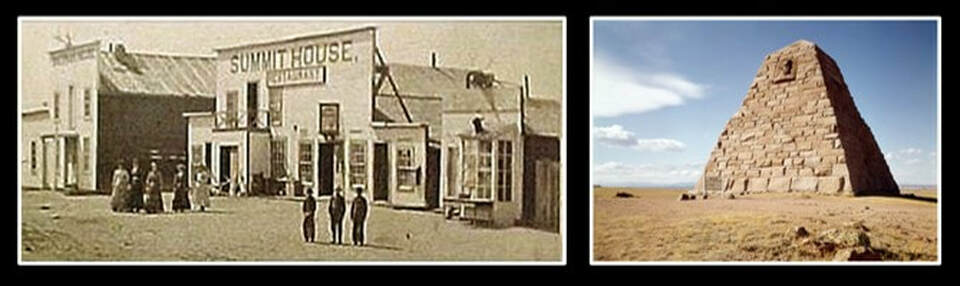 Pictures of Sherman Wyoming circa 1870 and Ames Monument, Albany County, Wyoming