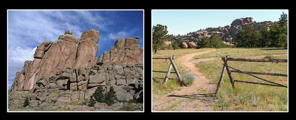 Pictures of Vedauwoo outcrops, Albany County, Wyoming