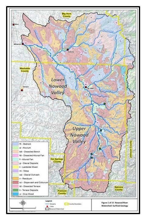 Geologic map Nowood River watershed, southeast Bighorn Basin