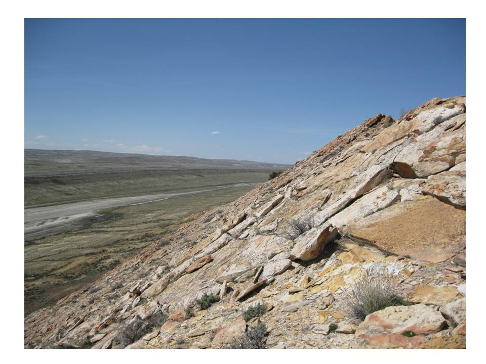 Picture Cretaceous Greybull Sandstone channel Sheep Mountain Wyoming