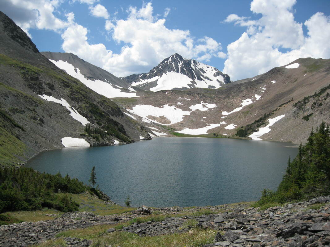 Picture of Copper Lake and Stinkingwater Peak, Park County, Wyoming