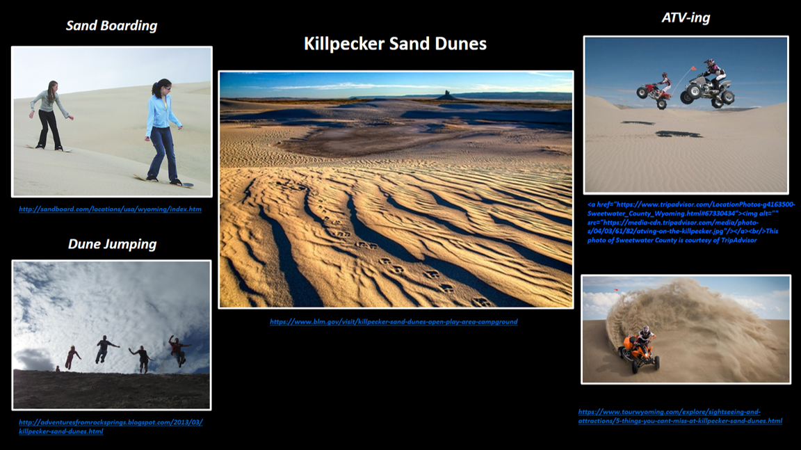 Pictures of Killpecker Dunes, Sweetwater County, Wyoming