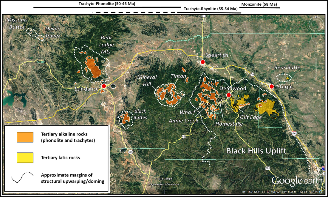 Geologic map of northern Black Hills Eocene alkaline magmatic province