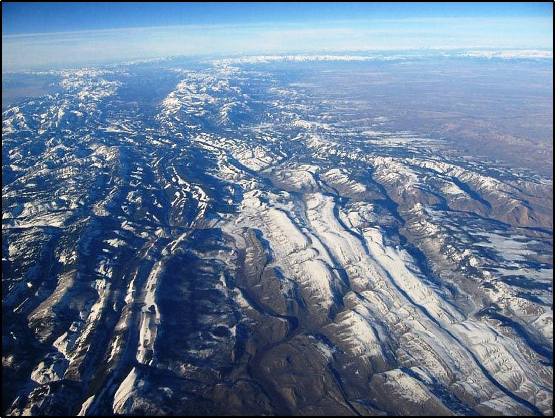 Aerial picture of Wyoming Thrust Belt