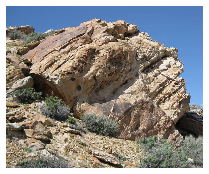 Picture of fluvial outcrop of Greybull Sandstone, Sheep Mountain, Big Horn County, Wyoming