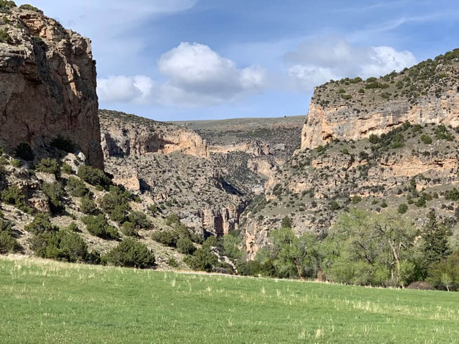 Picture of Paint Rock Canyon, Big Horn County, Wyoming