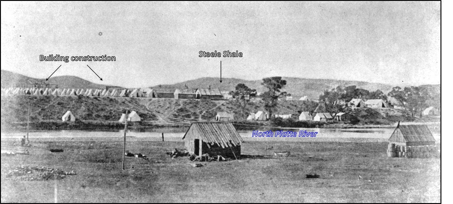 West view of Fort Fred Steele, 1868, Wyoming
