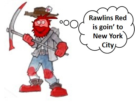 Cartoon of Rawlins Red Miner
