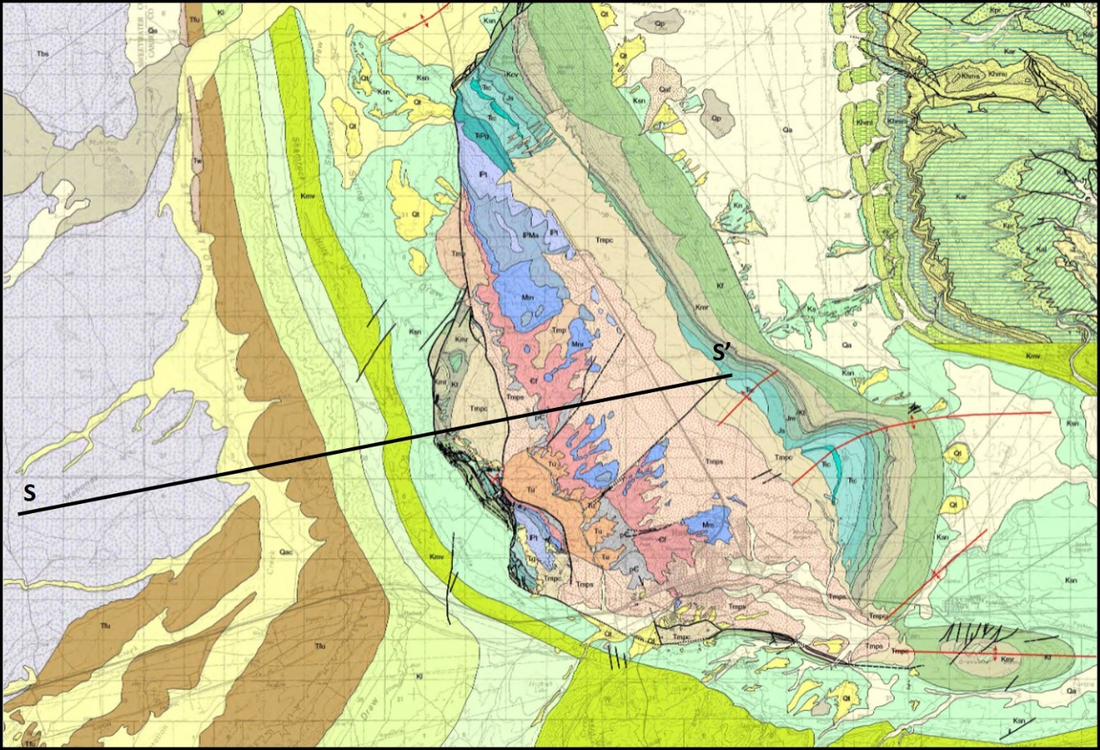 Geologic map of Rawlins Uplift, Carbon County, Wyoming