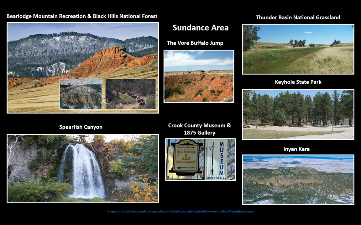 Picture montage of Black Hills Things-To-Do