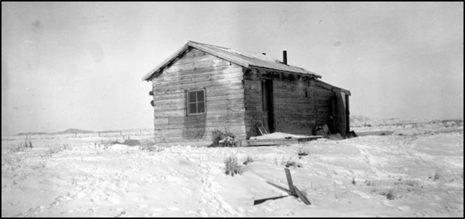 Picture of Ella Watson's (aka Cattle Kate) homestead cabin, Wyoming