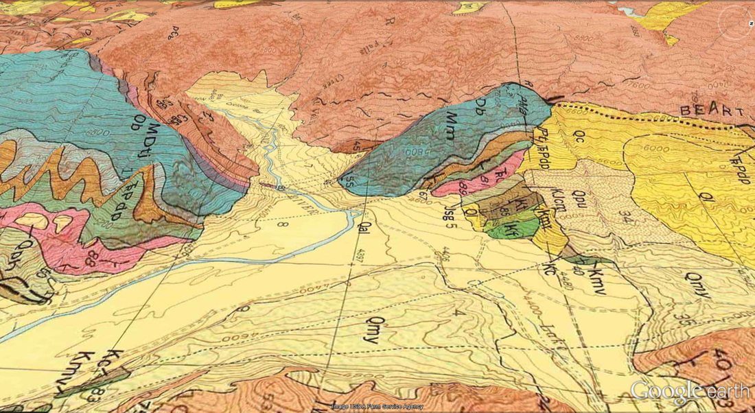Geologic map Clarks Fork Canyon, Park County, Wyoming