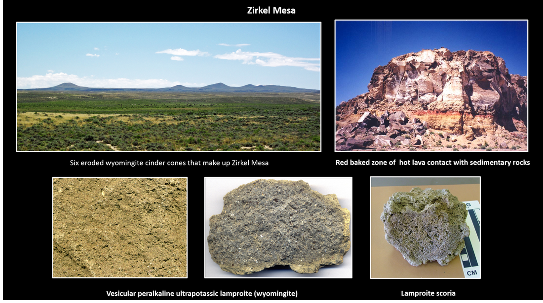 Pictures of Zirkel Mesa and lamproite rocks in Leucite Hills, Wyoming